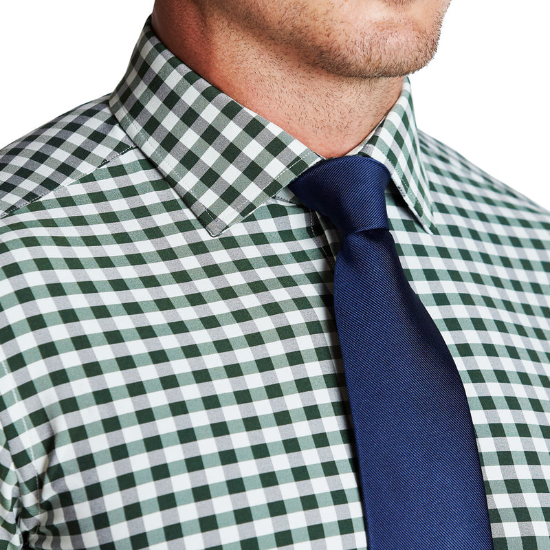 """The Fuller"" Forest Green and Black Check"