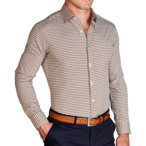 """The Lennox"" Brown Gingham"