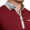 """The Logan"" Maroon with Grey Accents Long Sleeve Polo"