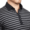 """The McGwire"" Black and Grey Striped Polo"