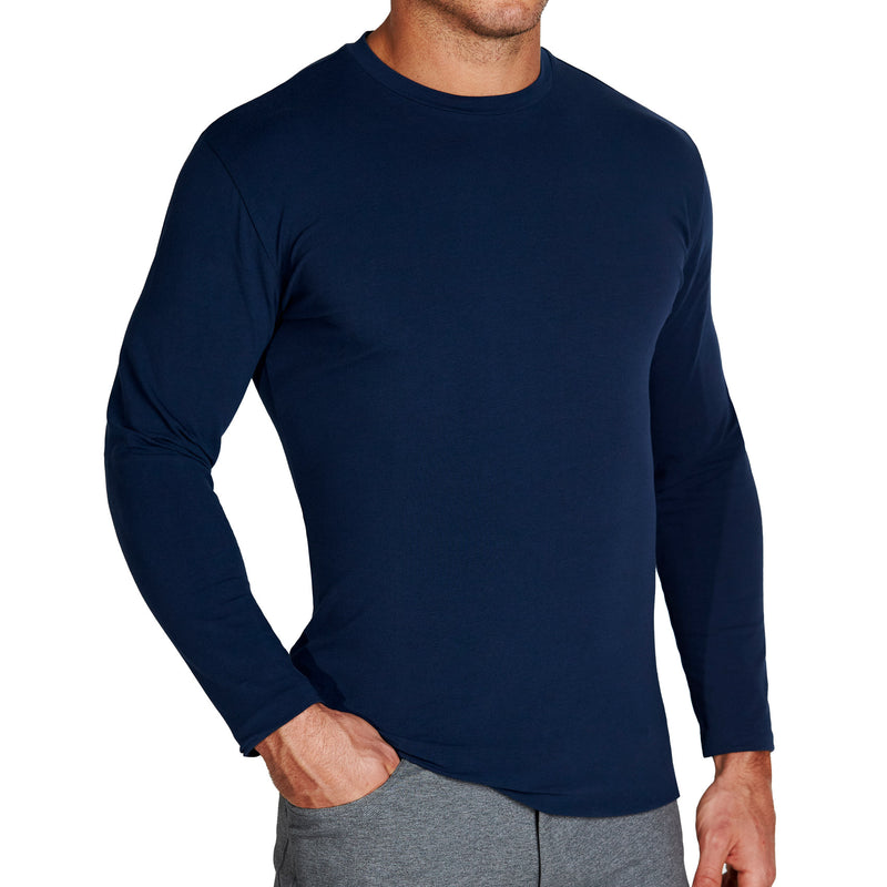 """The Ridgefield"" Navy Long Sleeve Crewneck"