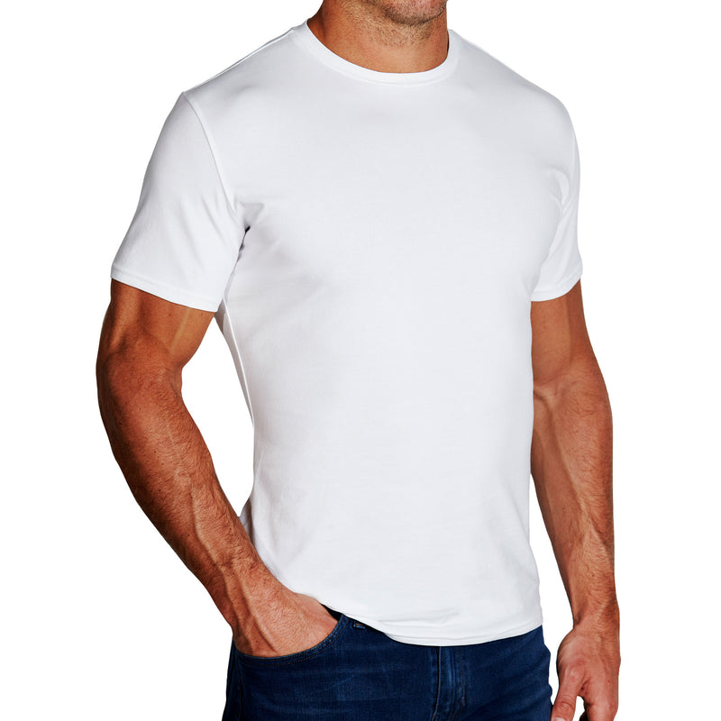 """The Taylor"" White Short Sleeve Crewneck"