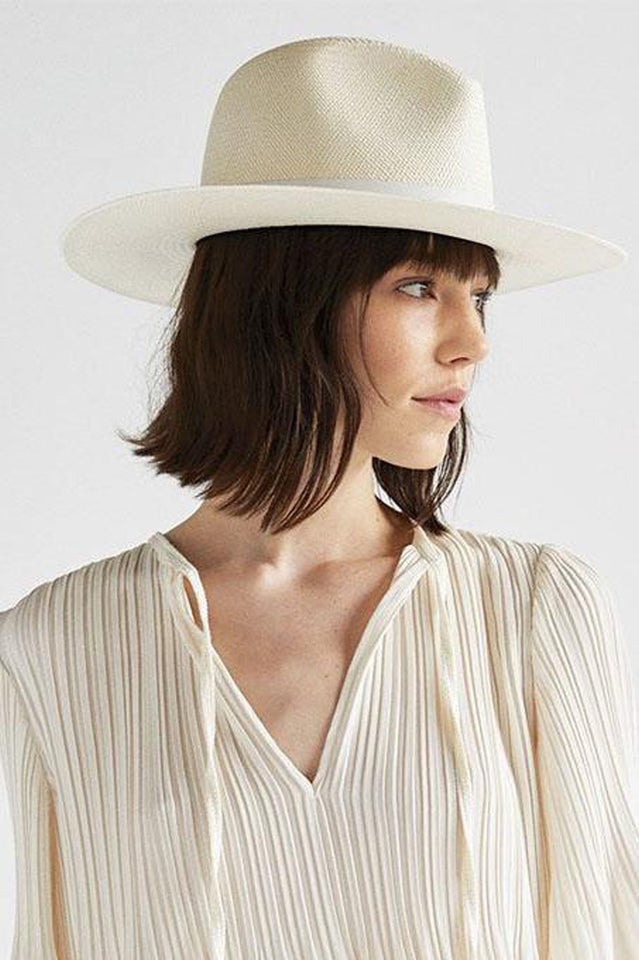 Janessa Leone straw hats and wool fedoras. Shop online