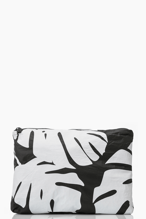 ALOHA Monstera mid size pouch