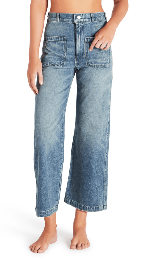 AMO denim Sailor wide leg in overboard