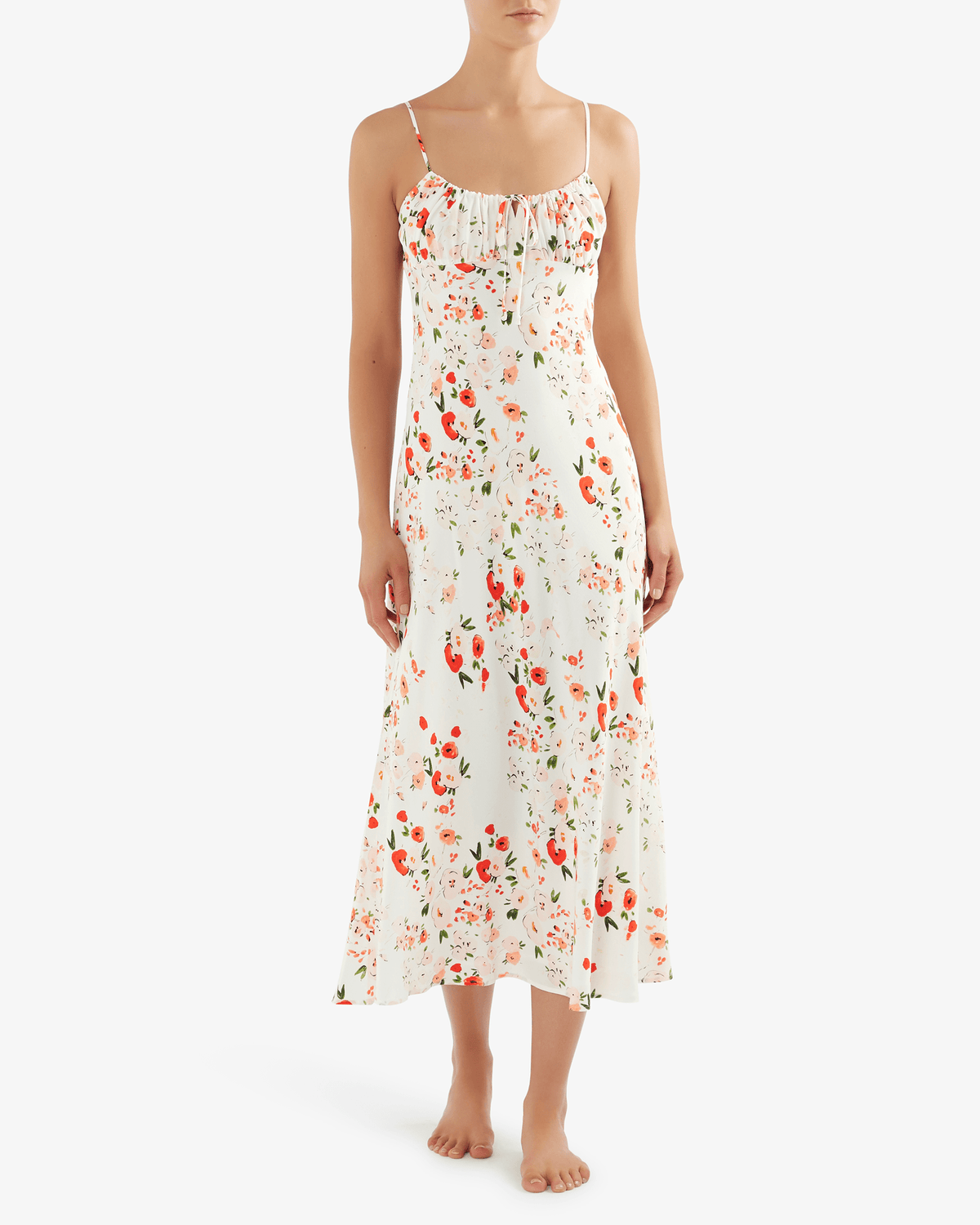 Bec + Bridge Tilly midi dress in water colour floral