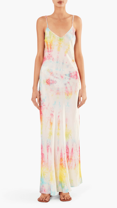 Dannijo Tie dye slip dress in multi