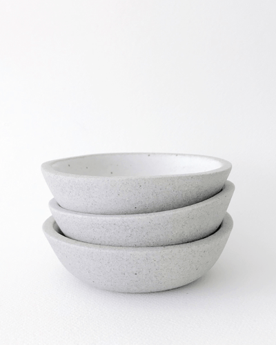 Humble Ceramics MINI stillness bowl in greystone / Korean blue celadon