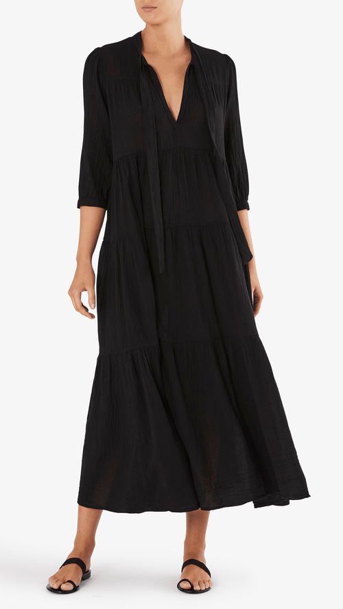 Honorine Long Giselle dress in black