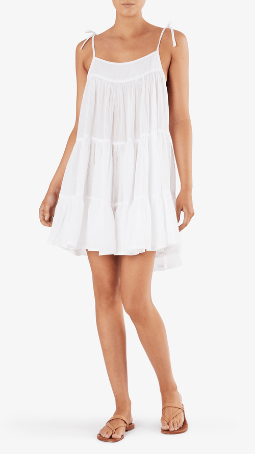 Honorine Peri dress in white