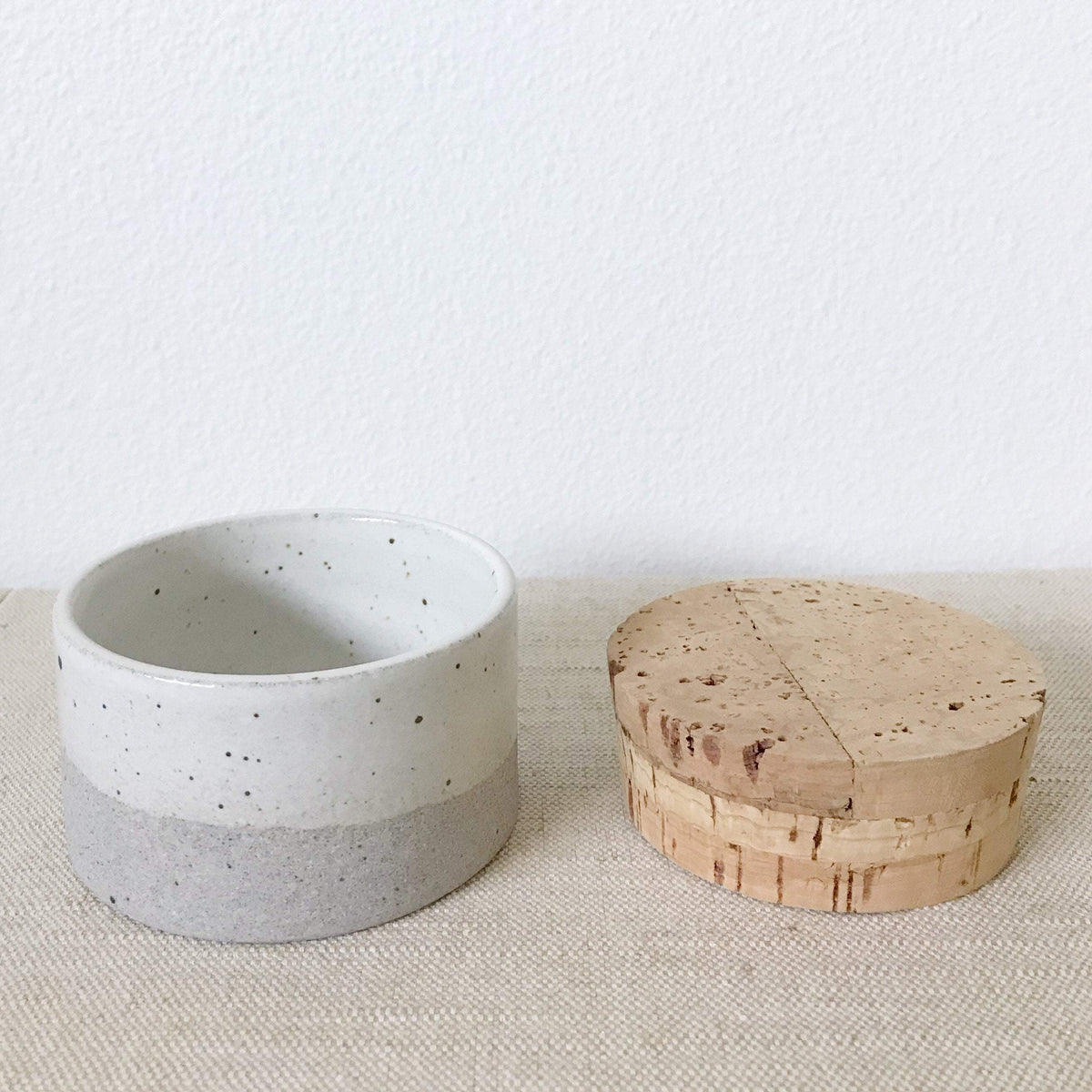Humble Ceramics Canister 3.5 x 2 in greystone
