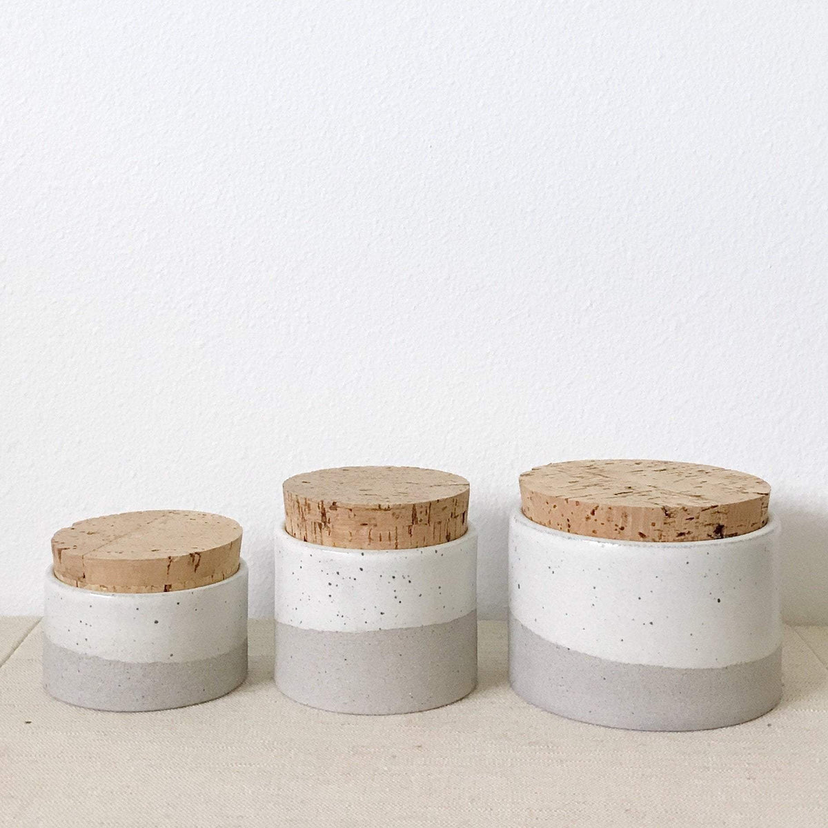 Humble Ceramics Canister 4.5 x 3 greystone
