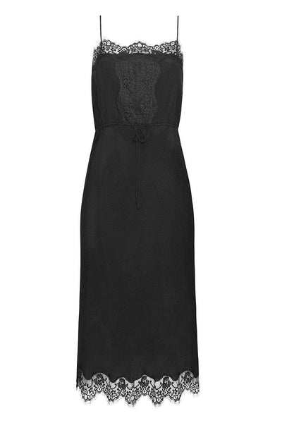 Little Joe Woman The Seeker silk slip dress in black - Soleil Blue
