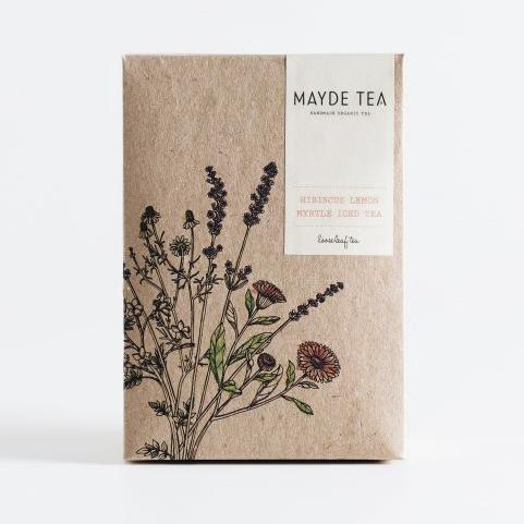 Mayde Tea Hibiscus lemon myrtle iced tea pouch