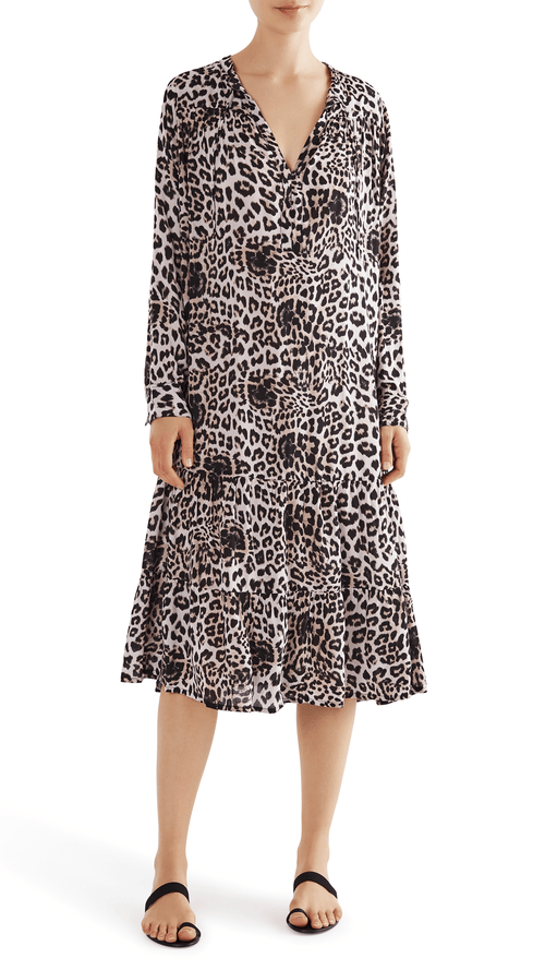 Mikoh Labasa dress in leopard