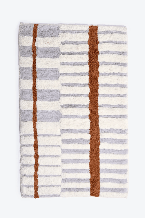 Morrow Soft Goods Tierra bath mat in rust & lilac