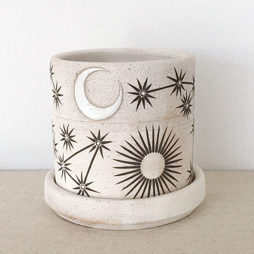 MQuan Planter in sun moon stars