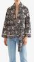 Natalie Martin Nina jacket with sash in vintage flowers midnight