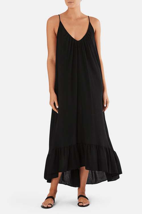 9SEED Paloma maxi in black