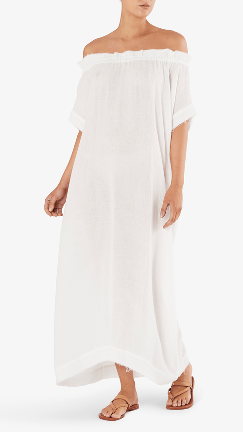 MIKOH Mirakami off shoulder maxi dress