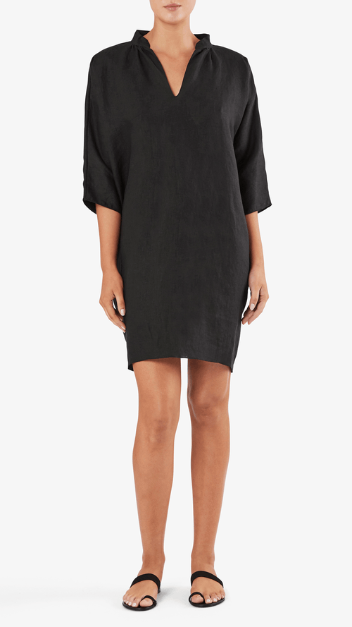 Rachel Craven Short Gaines dress in noir
