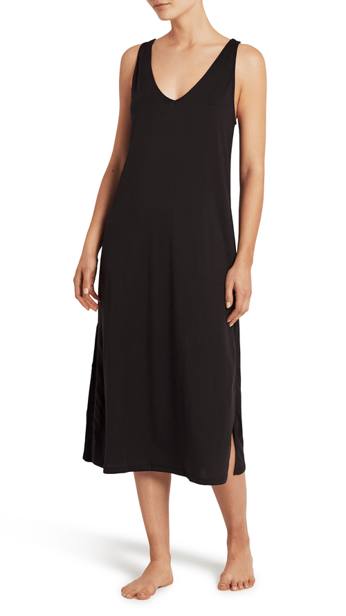 Skin Simona dress in black