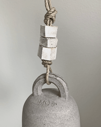 MQuan Grey round thrown bell small