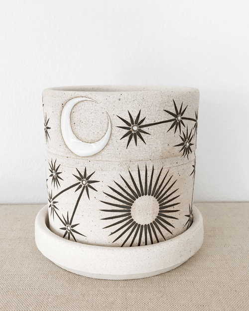 MQuan Planter in sun moon stars small