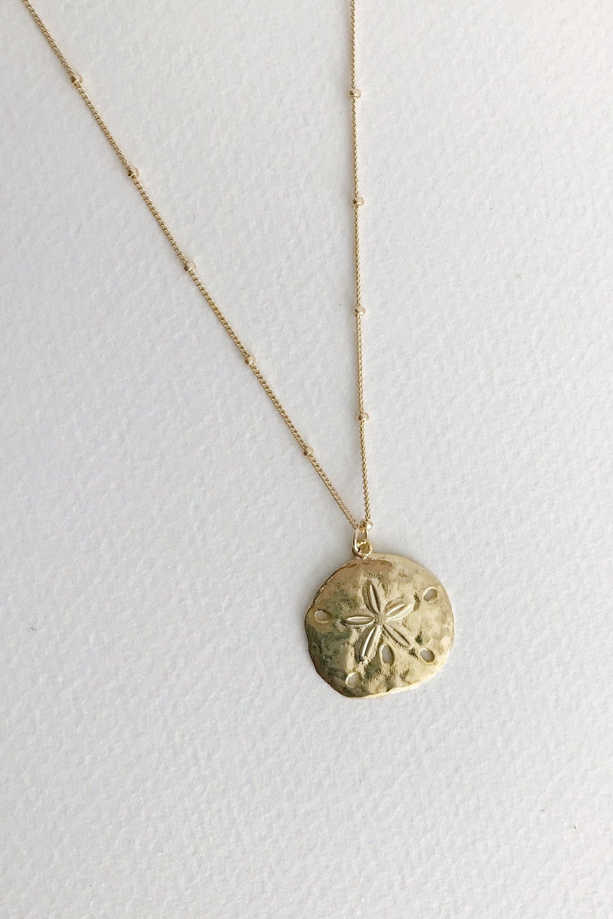 Soleil Blue Sand Dollar necklace