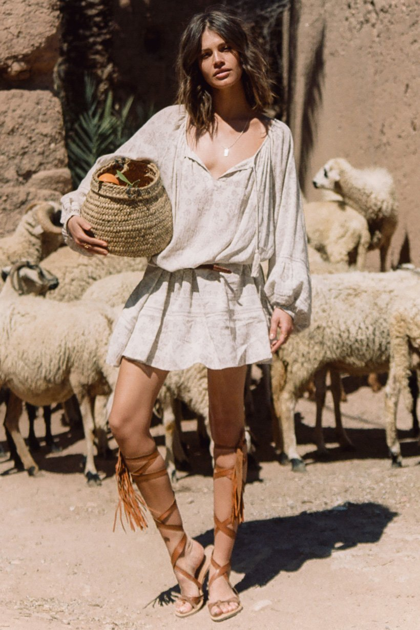 Spell || Moroccan luxe dress in sand