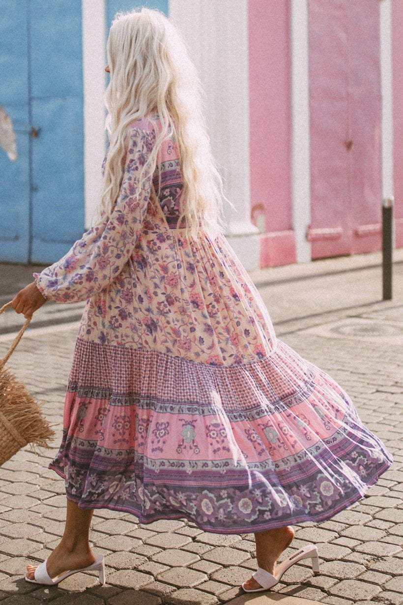 Spell Portobello rode boho dress in lavender