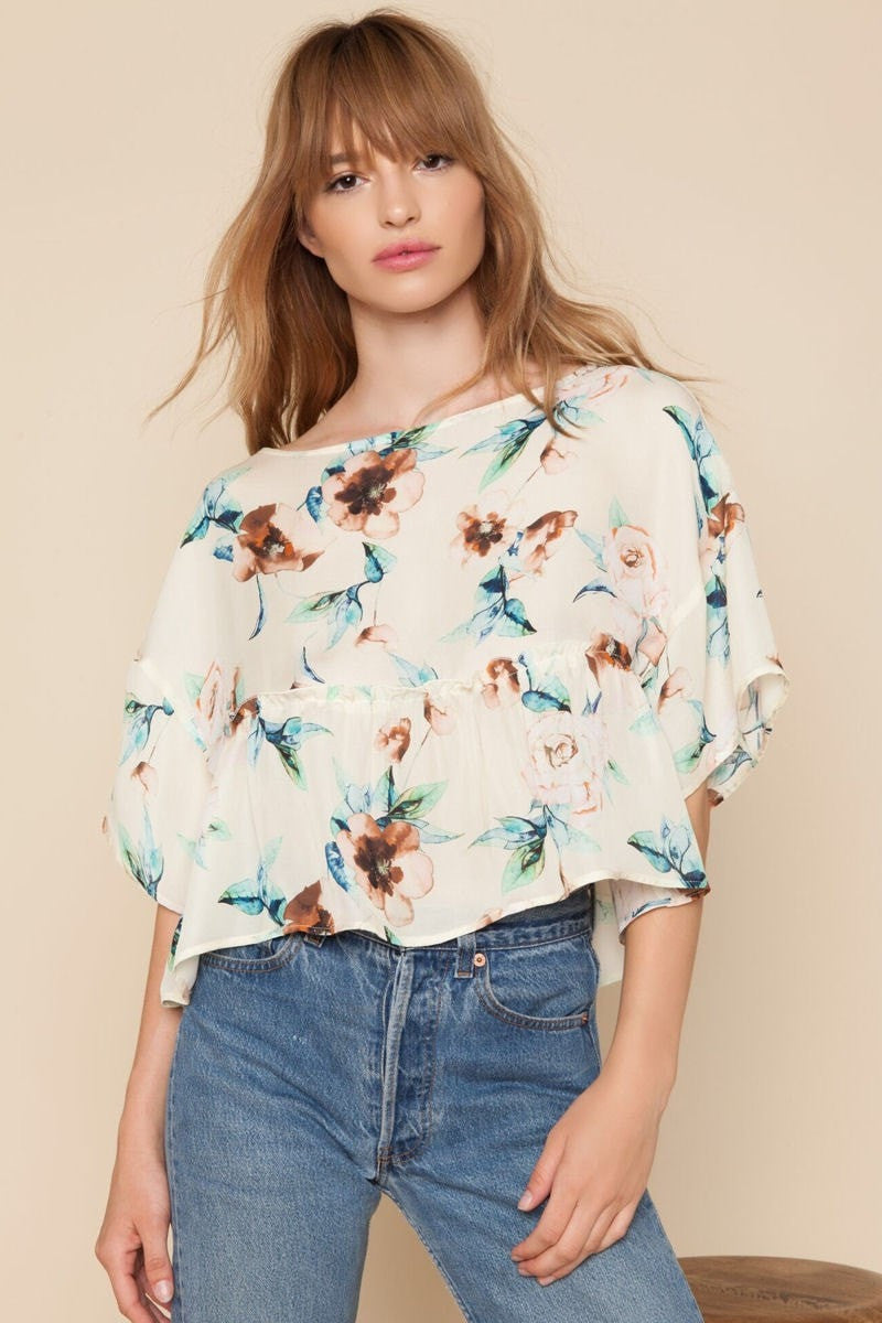Stone Cold Fox || Harlow blouse in ivory cosmo