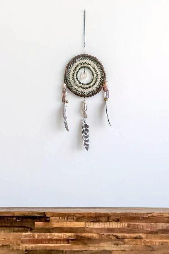 Tulum Dream catcher olive & creme