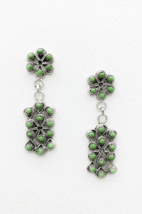 Zuni Petit Point silver & gaspeite drop earrings