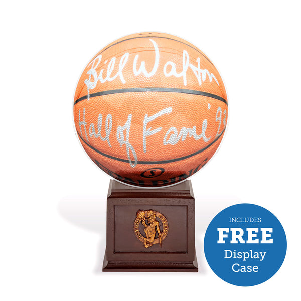 Bill Walton Autographed Basketball – Includes FREE Celtics Display Case