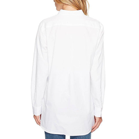 S18BL709 - Shirt Collar  Long Sleeves PlainBlouse