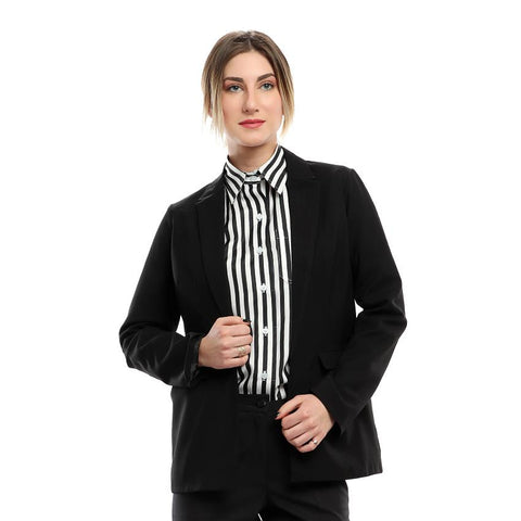 S18JAC901 - Black Casual Blazer