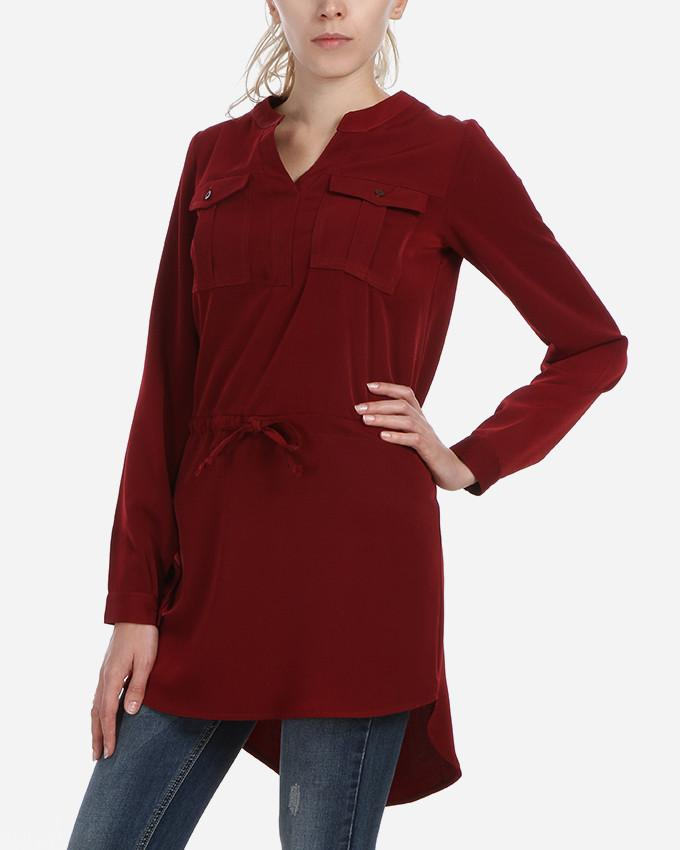 W17DR12-Plain Long Sleeves Shirt Dress - GIRO