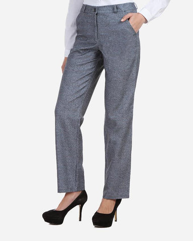 W17PAN601 Straight Tweed Pattern Pants