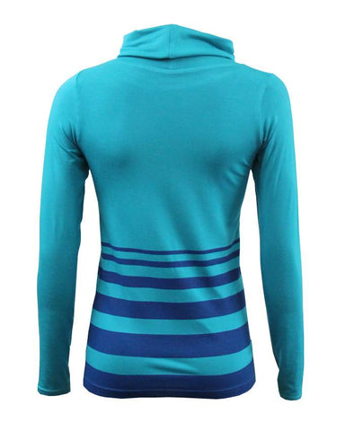 WBO1002-Turquoise Stripes Top