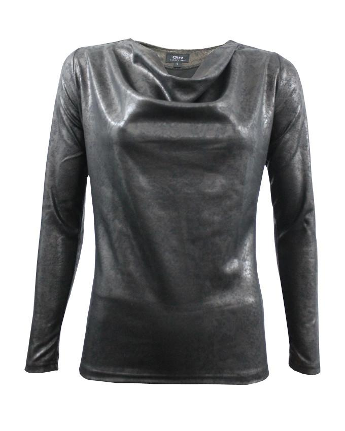 WBO1006-Brown Snake Leather Effect Top - GIRO