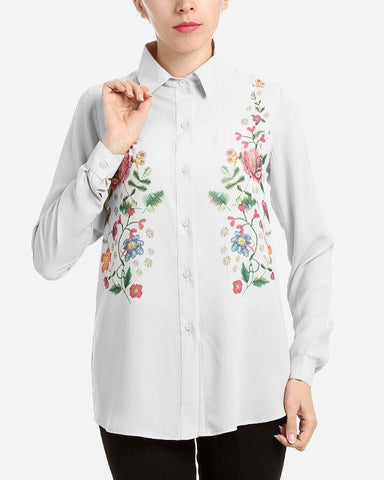S17BL704 -  Floral Shirt Long Sleeve Blouse