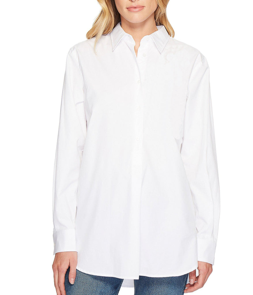 S18BL709 - Shirt Collar  Long Sleeves PlainBlouse - GIRO
