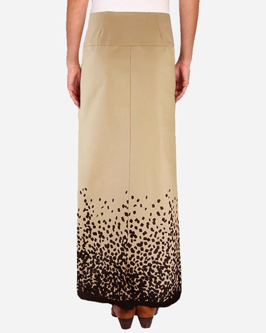 S16SK405-Lower Graphic Print Maxi Skirt