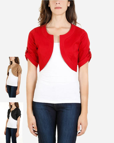 SSBL790 - Cotton Bolero Cardigan Half Sleeve