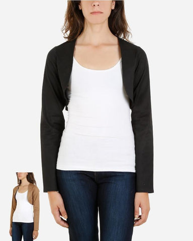 SSBL791 - Cotton Bolero Cardigan Long Sleeve