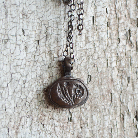 Dandelion Botanical Necklace