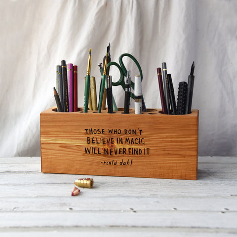 Desk Caddy with Quote