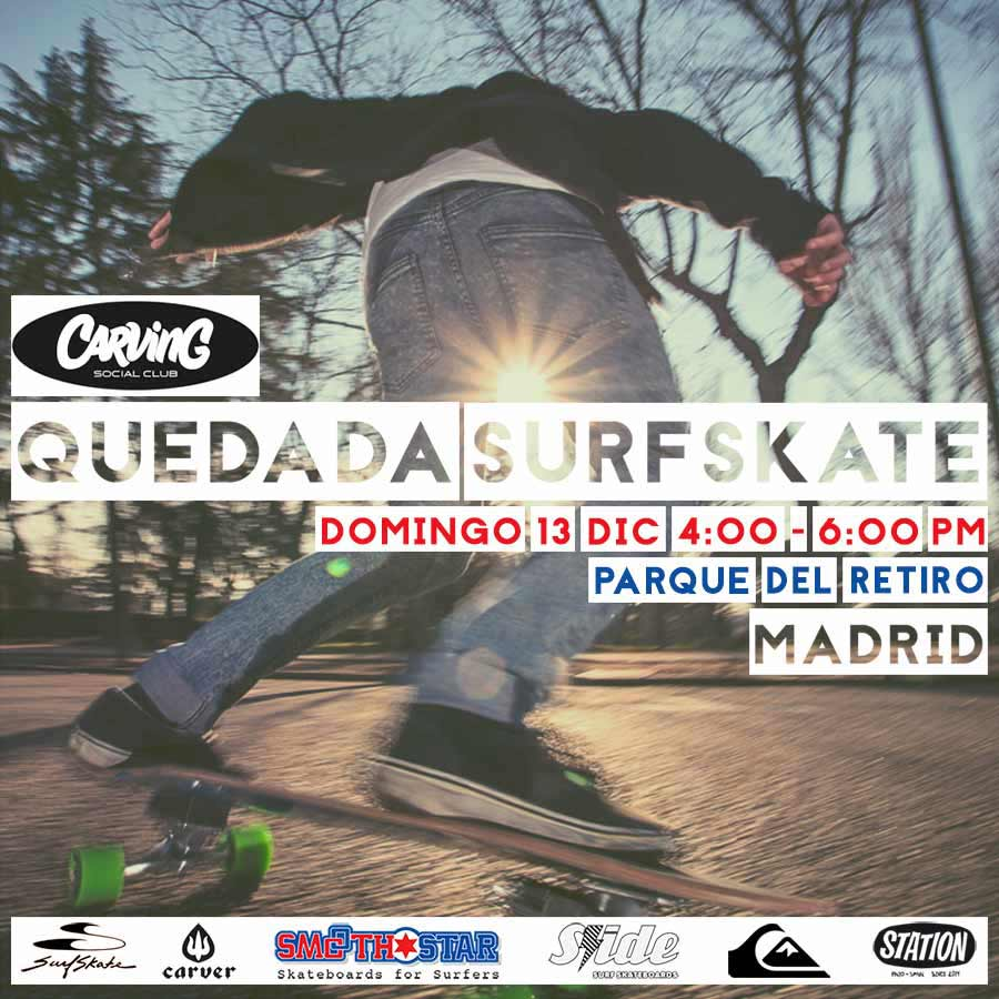flyer quedada surfskate retiro madrid