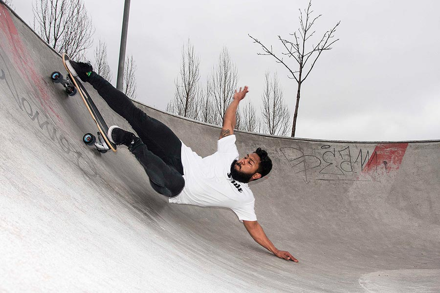 hand plant layback surfskate slide surf skateboards